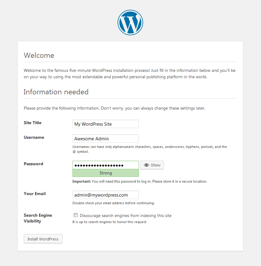 WordPress Install on LAMP Vultr VPS
