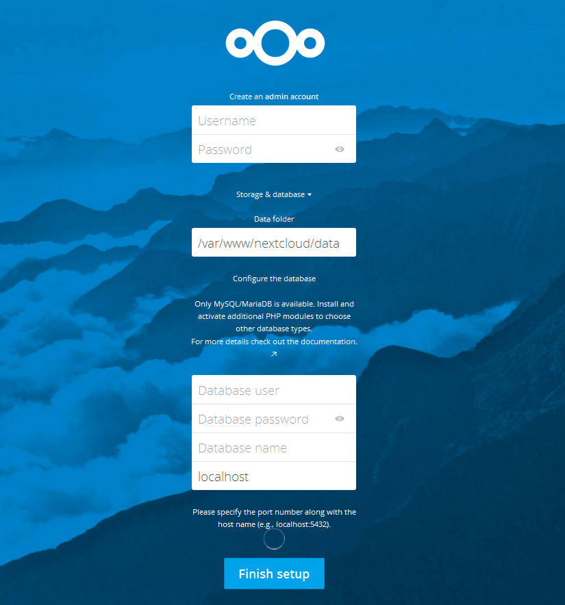 Nextcloud 12 on Debian 9 Stretch - Web Installer