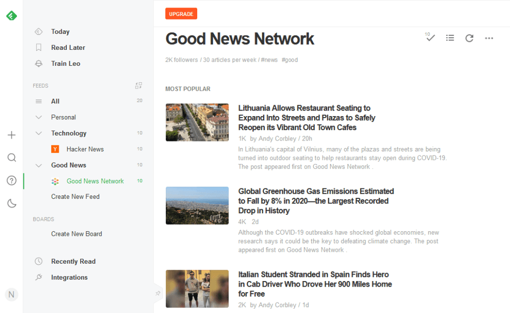 Best RSS Readers - Feedly